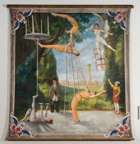 Acrobats, Tightrope walker and Clowns