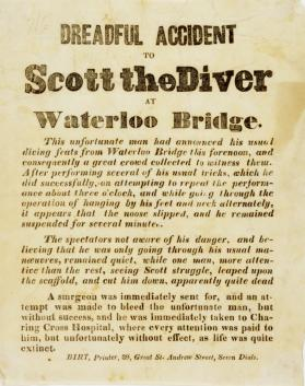 Annoucement of a Dreadful Accident to Scott the Diver at Waterloo Bridge, January 11, 1841