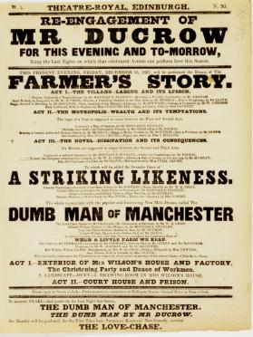Handbill for Theatre-Royal, Edinburgh. December 15, 1837