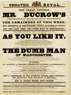 Handbill for Theatre-Royal, Edinburgh. November 22, 1837
