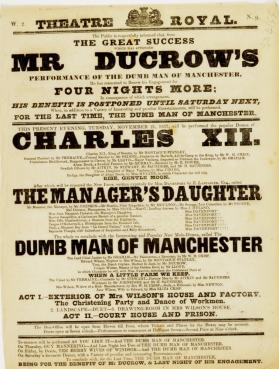 Handbill for Theatre-Royal, Edinburgh. November 21, 1837