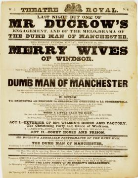 Handbill for Theatre-Royal, Edinburgh. November 20, 1837