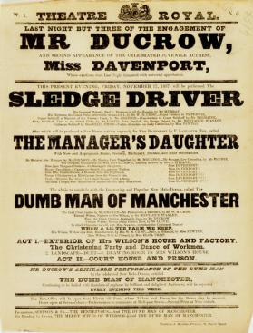 Handbill for Theatre-Royal, Edinburgh. November 17, 1837