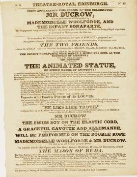 Handbill for Theatre-Royal, Edinburgh. December 22, 1828