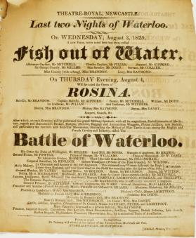 Handbill for Theatre-Royal, Newcastle. August 3, 1825