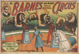 Al. G. Barnes Big 4 Ring Wild Animal Circus: Lion Act