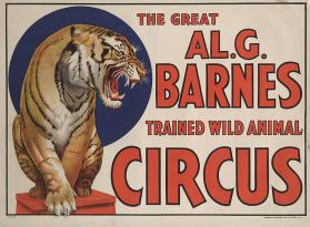 Al. G. Barnes Circus: Tiger On Stool