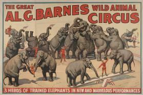 Al. G. Barnes Circus: 3 Herds of Trained Elephants