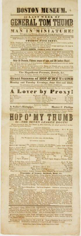 Playbill for Boston Museum. No date