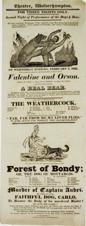 Playbill for the Theatre, Wolverhampton, February 5, 1823