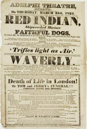 Adelphi Theatre, Strand, London. March 25, 1824