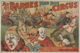 Al. G. Barnes Circus: Forty Famous Funsters Furnish Frolics