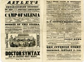 Double page playbill for Astley's Royal Amphitheatre. January 3, 1848