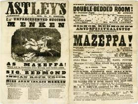 Double page playbill for Astley's Amphitheatre, no date