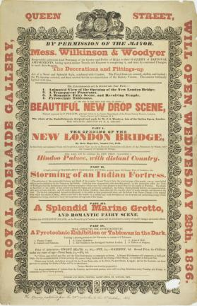 Playbill for Royal Adelaide Gallery, Hull. September 28, 1836