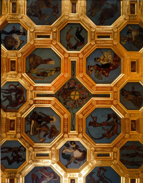 Cà d'Zan Ballroom Ceiling by William Andrew Pogany.