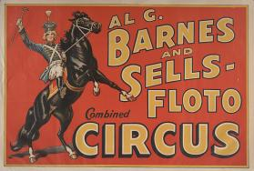 Al. G. Barnes-Sells Floto Combined Circus: Girl On Black Horse
