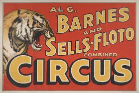 Al. G. Barnes-Sells Floto Combined Circus: Tiger Head