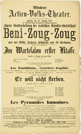 Artien-Volks-Theater. January 25, 1867