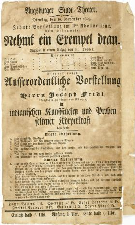 Augsburger Stadt Theatre. November 10, 1829