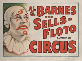 Al. G. Barnes-Sells Floto Combined Circus: Smiling Clown