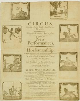 Broadside for Circus, Newcastle. January 9, 1805