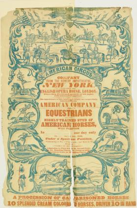 Broadside for American Circus Company of Equestrians, July 1843
