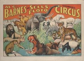 Al. G. Barnes-Sells Floto Combined Circus: Animals at a Waterhole