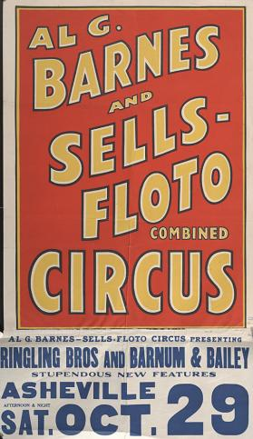 Al. G. Barnes-Sells Floto Combined Circus: New Features