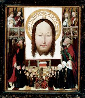 A Family Group Adoring the Veil of  Veronica