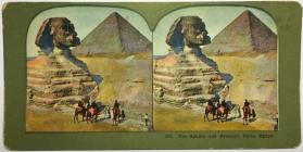 283. The Sphinx and Pyramid, Caior, Egypt.