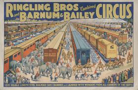 Ringling Bros. and Barnum & Bailey: 100 Double Length Steel Railroad Cars