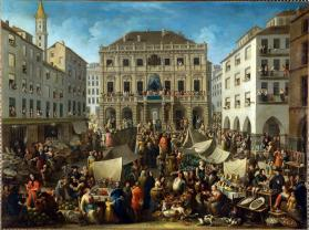 Drawing of the Lottery in the Piazza delle Erbe in Turin