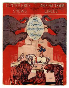 Gentry Bros. Famous Shows combined with James Pattersons Big 4 Ring Wild Animal Circus, The Premier Amusement Enterprise of America