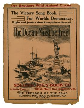 Orr Brother's Wild Animal Circus The Victory Song Book For Worlds Democracy