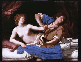 Copy after Guercino's Joseph and Potiphar's Wife