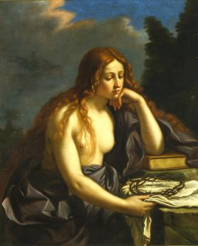 Copy after Guercino's lost Penitent Magdalene