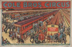 Cole Bros.: Two Railroad Trains of Double Length Cars