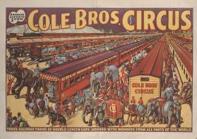 Cole Bros.: Three Railroad Trains of Double Length Cars