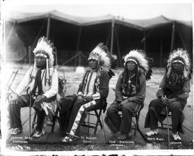 Arrapahoe Creeping Bear, Sioux Ph. Howard, Cheyenne Deaf Fletcher, Cheyenne Ernie Black