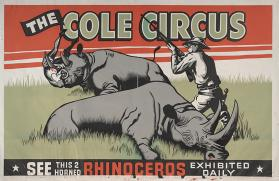 Cole Bros.: Two Horned Rhinoceros