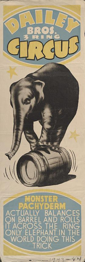 Dailey Bros.: Elephant on a Barrel