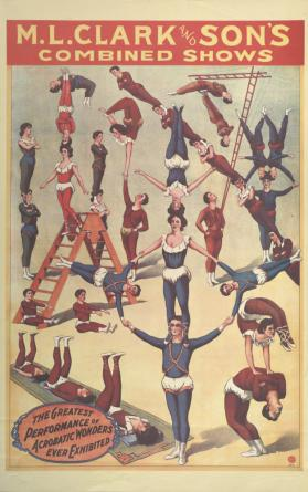 M.L. Clark & Son's: The Greatest Performance of Acrobatic Wonders