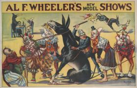Alf F. Wheeler: Clowns and a Trick Mule
