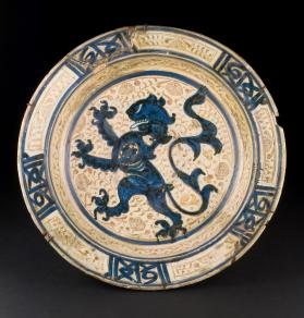 Basin with a Rampant Lion