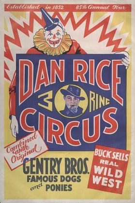 Dan Rice with the Gentry Bros.: Clown