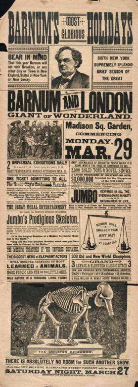Barnum & London: March 29, 1886