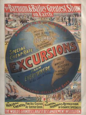 Barnum & Bailey: Excursions Including Imre Kiralfy's Columbus Spec