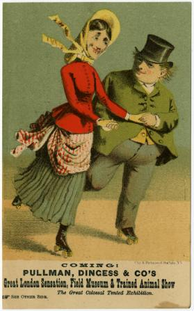 Pullman, Dingess and Company: Couple on skates