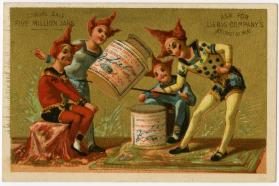Clowns playing with Liebig jar